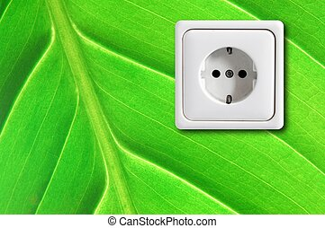green power supply concept showing nature concept