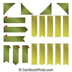 Green premium blank ribbon for chri