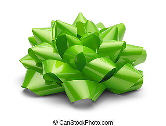 Green Present Bow