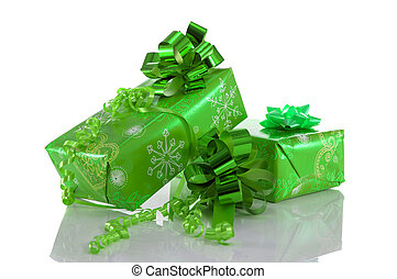 green present box