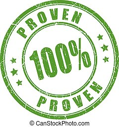 Green proven stamp - Green proven business stamp