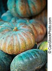 Green pumpkin.
