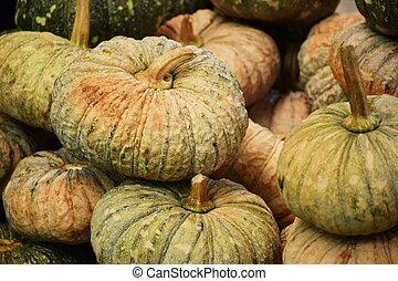 Green Pumpkins background
