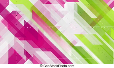 Green purple geometric minimal tech video animation - Green...