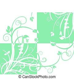 green quad pattern