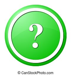 green question mark round button