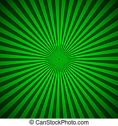 Green radial rays abstract background