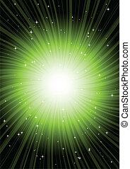 Green radial rotating spark
