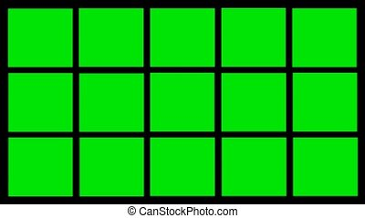 green rectangles animation on green screen video