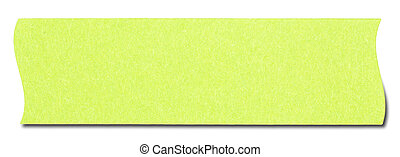 Green rectangular sticky note