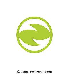 green recycle arrow geometric logo vector