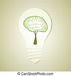 Green recycle concept light bulb