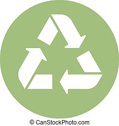 Green recycle icon minimal clean symbol design.