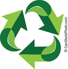 Green recycle logo symbol