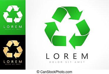 Green recycle logo vector design