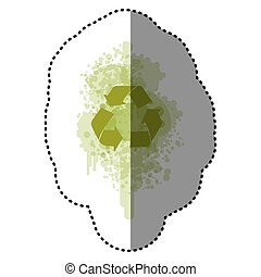 green recycle symbol icon