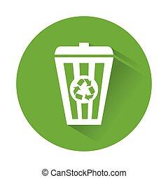 Green recycleng basket signal design