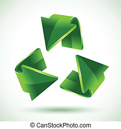 Green recycling arrows