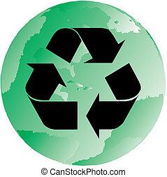 Green Recycling Globe