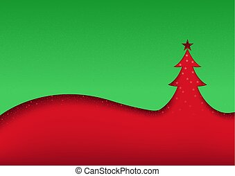 Green-red Abstract Christmas Background