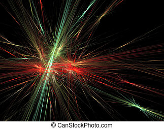Green red bright abstract fractal effect light background