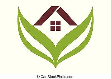 green residence home real estate logo