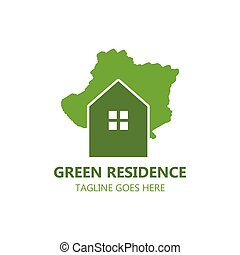 Green Residence logo vector