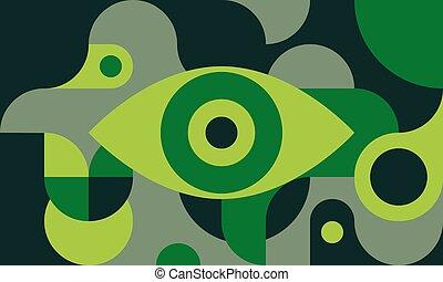 Green retro poster