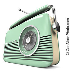 Green Retro Radio.