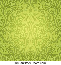 Green Retro vintage wallpaper vector design backround