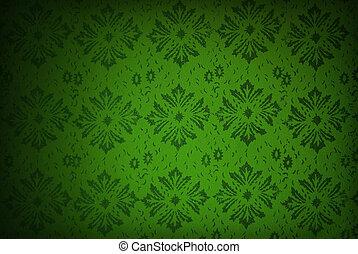 green retro wallpaper