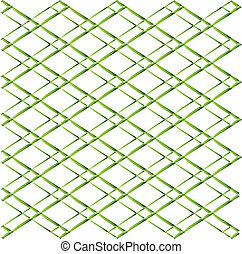 Green Rhombus grid on white