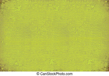 Green ribbed paint washed wall background - Green ribbed...