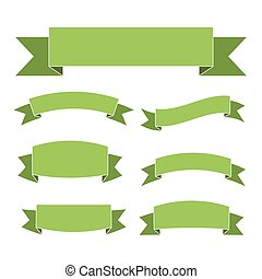 Green ribbon banners set