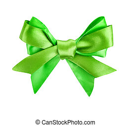 green ribbon bow like a gift