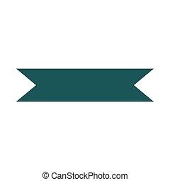 green ribbon decoration ornament icon isolated white background design