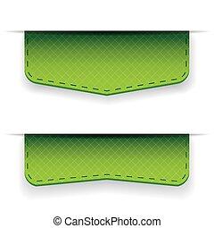 Green ribbon set vector