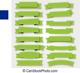 Green ribbons and banners vector