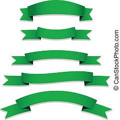 Green Ribbons Flags