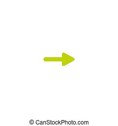 green right arrow icon. Isolated on white. Continue icon. Next sign.