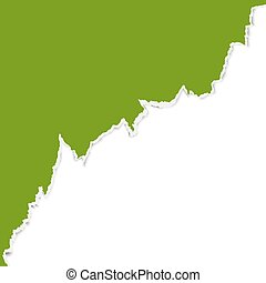 ripped open paper - green ripped open paper edge with white ...