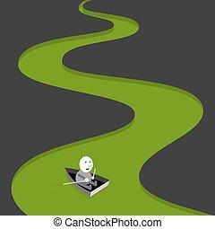 Green river, background illustration