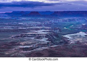 Green River Overlook at Sunset - Canyonlands National Park