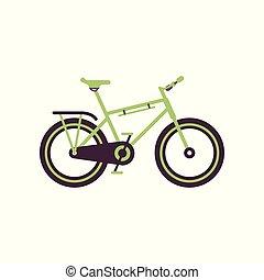 Green road bike, modern bicycle vector Illustration