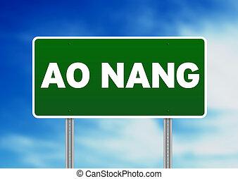 Green Road Sign - Ao Nang, Thailand