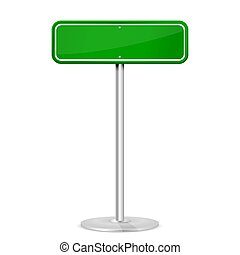 Green road sign