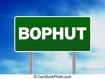 Green Road Sign - Bophut, Thailand - Green Bophut, Thailand...