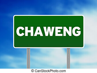 Green Road Sign - Chaweng, Thailand