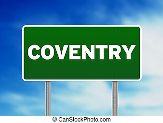Green Road Sign -  Coventry, England