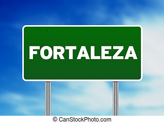Green Road Sign - Fortaleza